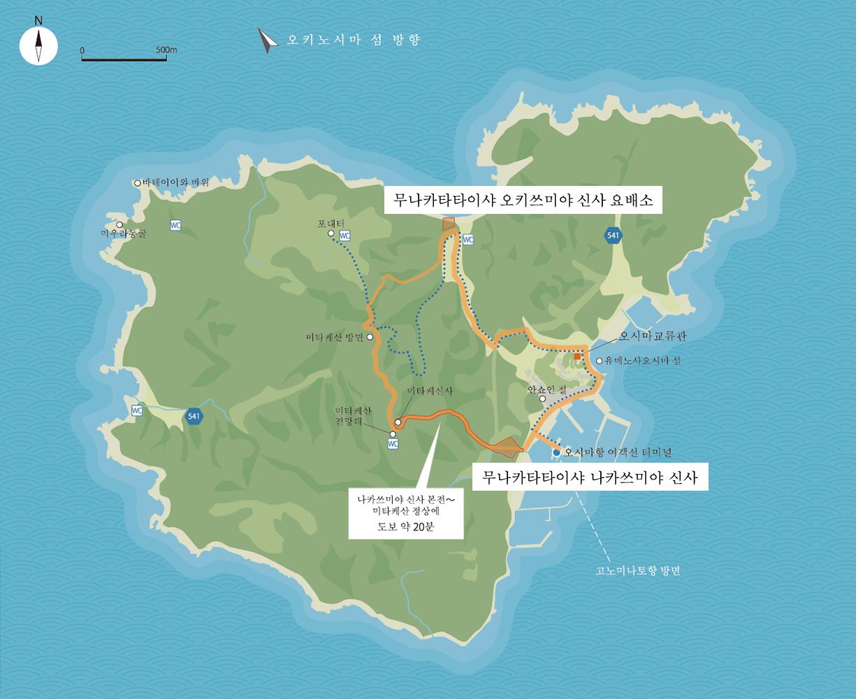 Guide map of Oshima